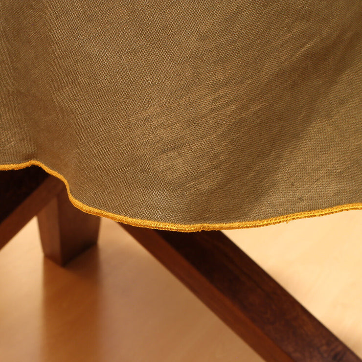 Linen Bourdon Edge Tablecloth Closeup - Linenshed