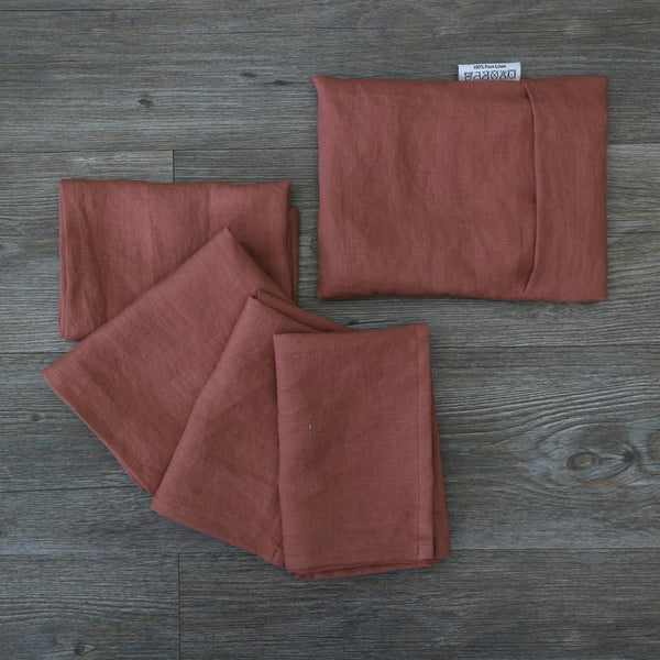 Linen Plain Table Napkin Set - linenshed.au - 3