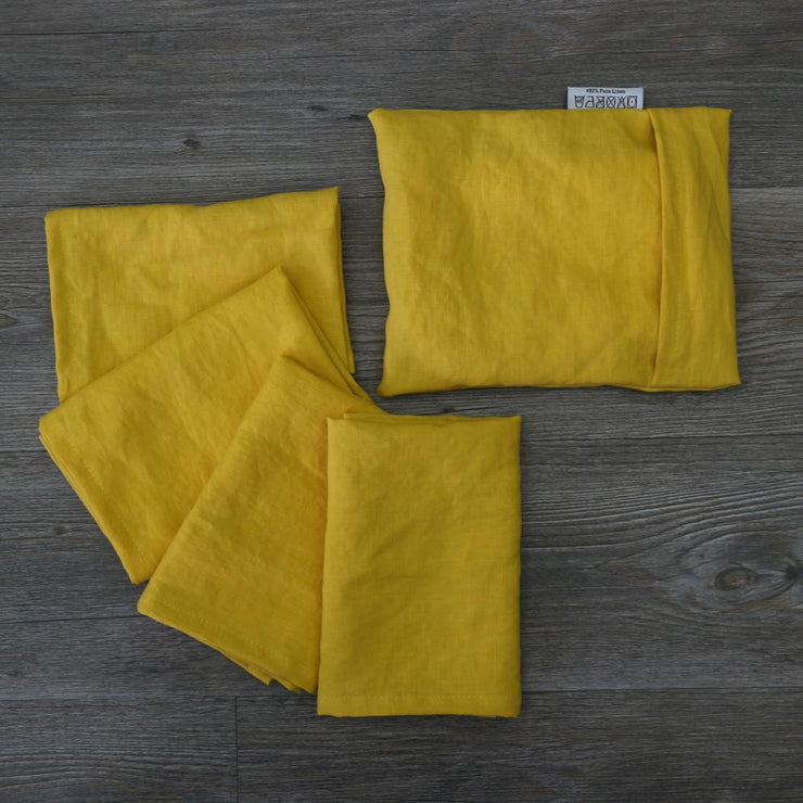 Linen Plain Table Napkin Set - linenshed.au - 4