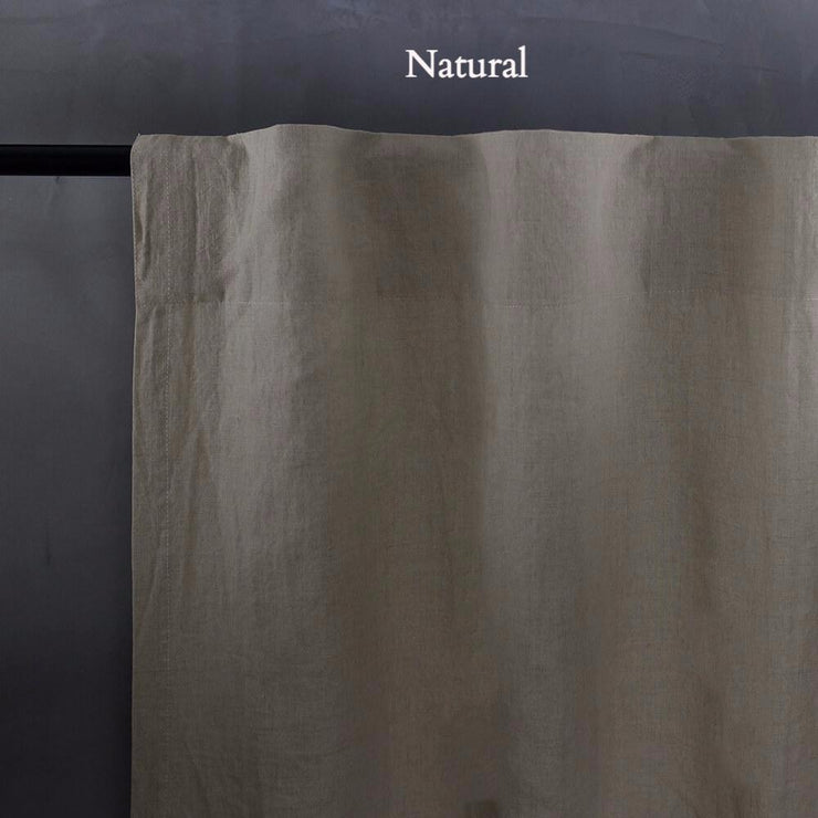 Linen Curtain Panel with Blackout Lining (rect. custom size)