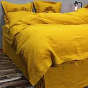 Linen Duvet Cover Curry - linenshed.au - 1