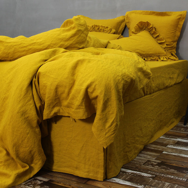 Linen Duvet Cover Curry - linenshed.au - 2