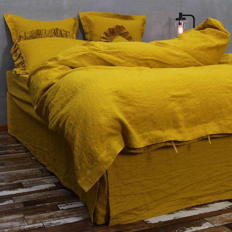 Linen Duvet Cover Curry - linenshed.au - 5