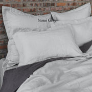 Flanged Linen Pillowcases (set of 2) - linenshed.au - 9
