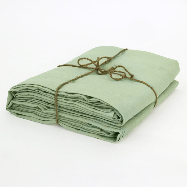 Bed Linen Top Sheet Green Tea Folded - Linenshed.au