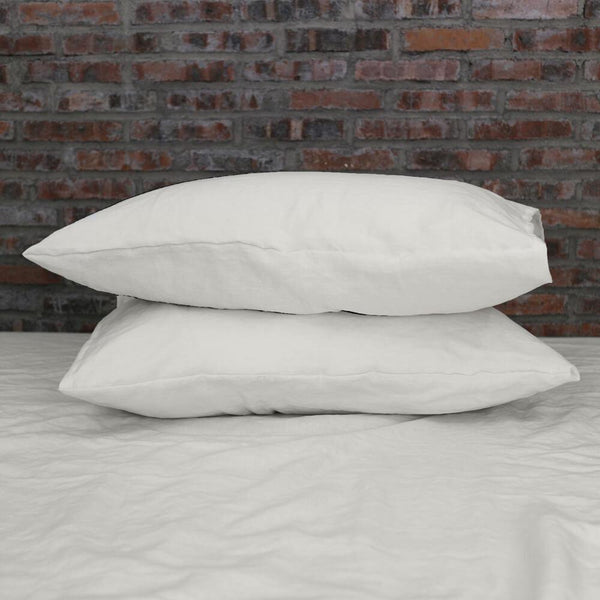Housewife Linen Pillowcases Chalk (set of 2) - linenshed.au - 1