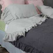 Two Tones Frayed Ruffle Quilted Bedspread - linenshed.au - 5