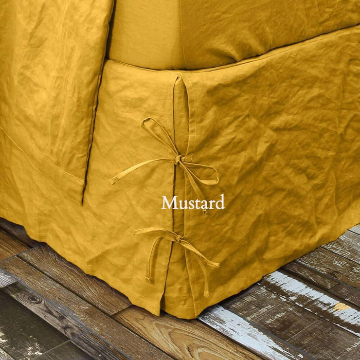 Linen Knotted Bed Skirt - linenshed.au - 2