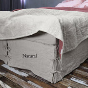 Linen Knotted Bed Skirt - linenshed.au - 1