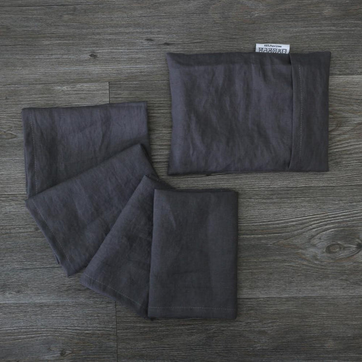 Linen Plain Table Napkin Set - linenshed.au - 6