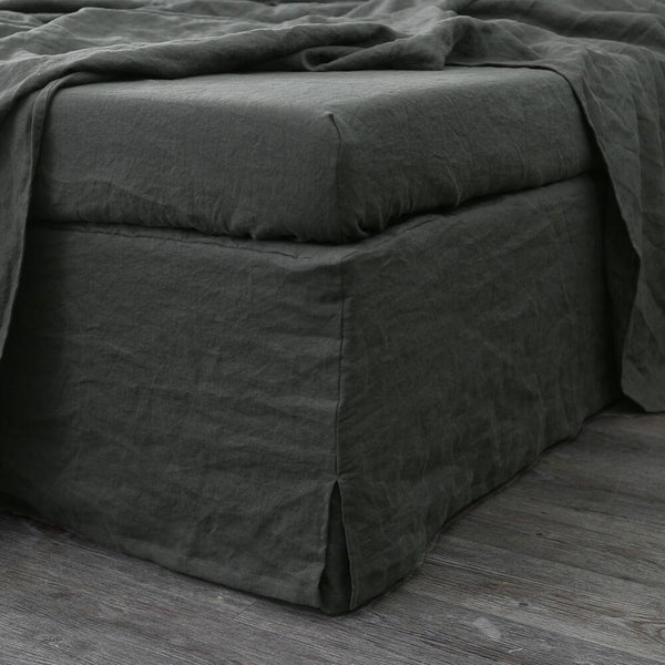 Linen Four Sided Bed Skirt - linenshed.au - 1