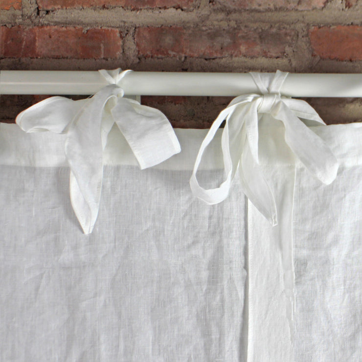 Bow Ties Linen Window Curtain - linenshed.au - 3