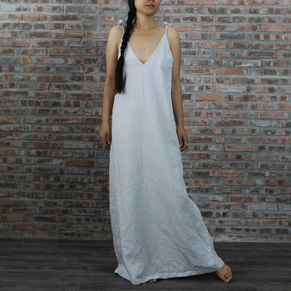 Long Linen Night Gown