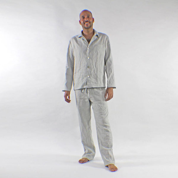 Men's Linen Pajamas Sets - linenshed.au - 1