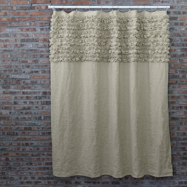 Shabby Chic Shower Curtain Natural