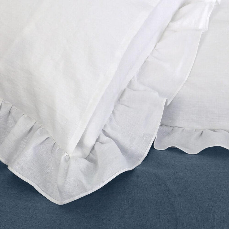 Romantic Ruffled Linen Pillowcases (set of 2) - linenshed.au - 2