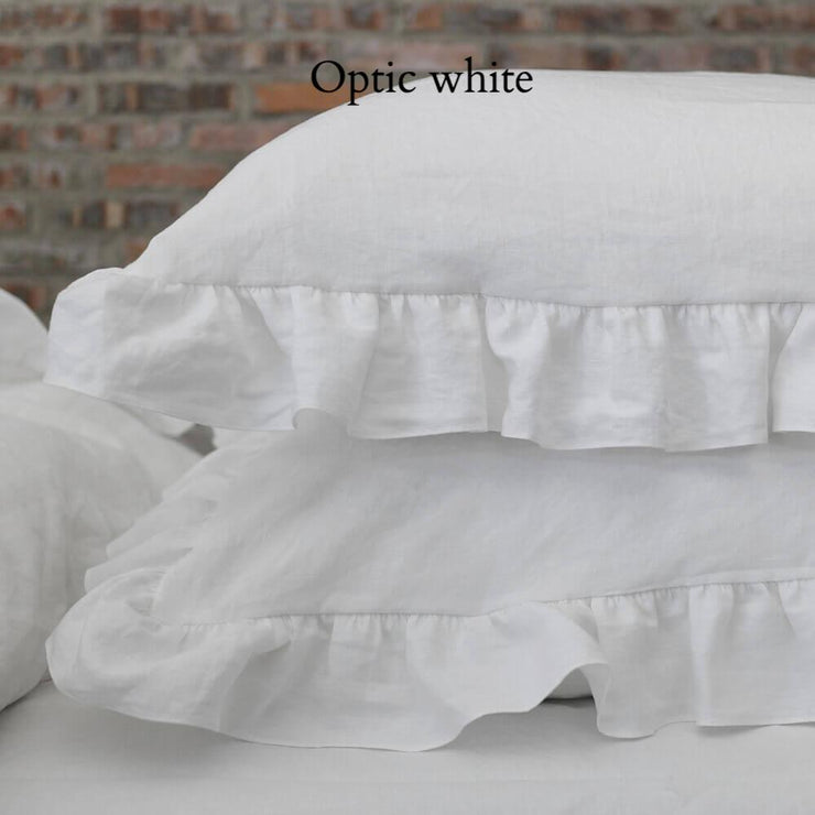 Romantic Ruffled Linen Pillowcases (set of 2) - linenshed.au - 3