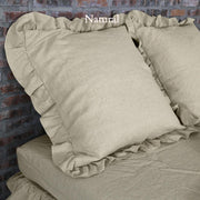 Romantic Ruffled Linen Pillowcases (set of 2) - linenshed.au - 4