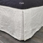 Split-Corner Linen Bed Valance Chalk