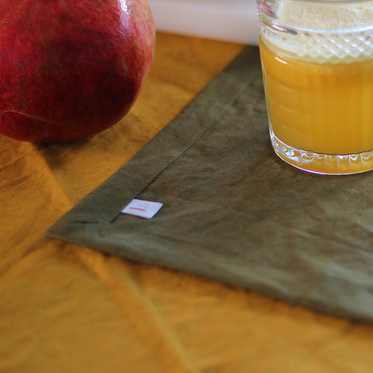 Linen Plain Table Placemat Set - linenshed.au - 1
