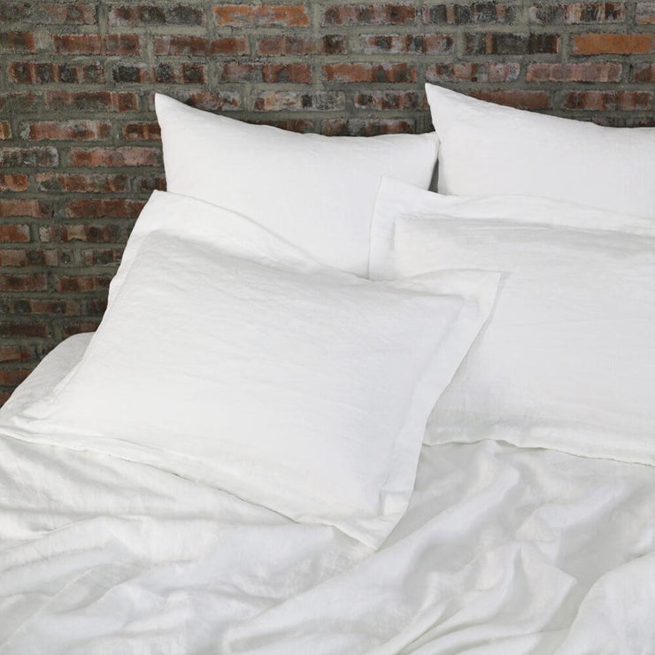 Flanged Linen Pillowcases (set of 2) - linenshed.au - 1