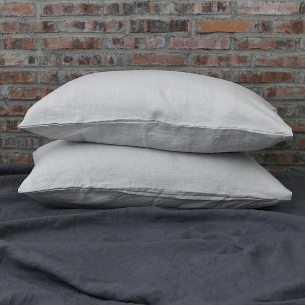 Housewife Linen Pillowcases Stone Grey (set of 2) - linenshed.au - 1