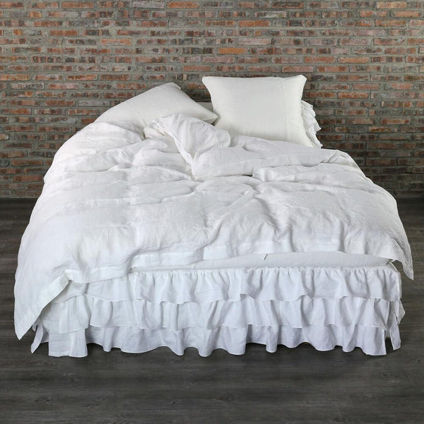 Linen Duvet Cover Optic White - linenshed.au - 1