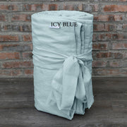 Linen Quilted Bedspread - Icy Blue