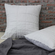 Pure Linen Quilted Pillowcase Euro Size