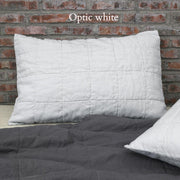Pure Linen Quilted Pillowcase Queen Size