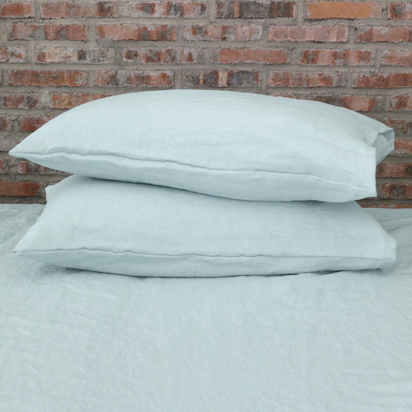 Housewife Linen Pillowcases Icy Blue (set of 2) - linenshed.au - 1