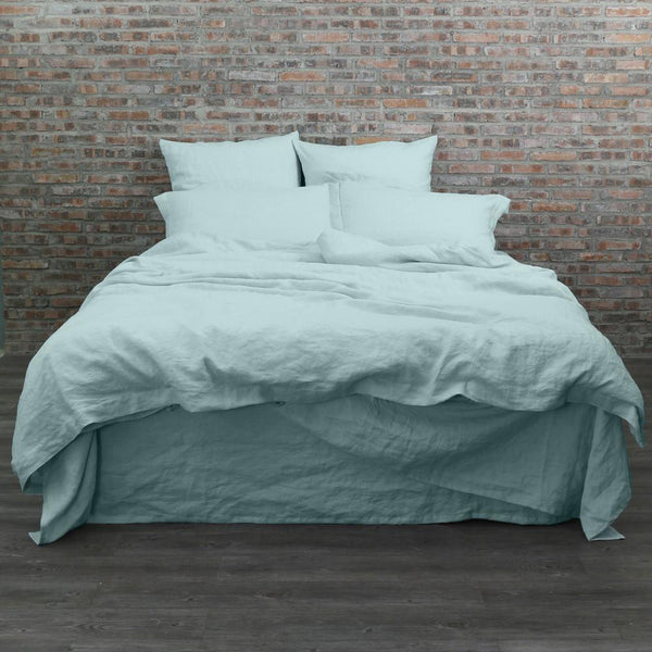 Garment Washed Linen Duvet Cover Icy Blue Linenshed Com Au