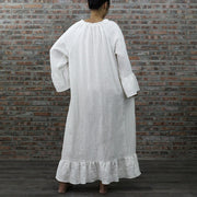 Raglan Long Linen Night Dress - linenshed.au - 4