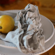 Linen Ruffles Table Napkin Stone Grey - linenshed.au