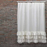 Ruffles Linen Shower Curtain - linenshed.au - 8