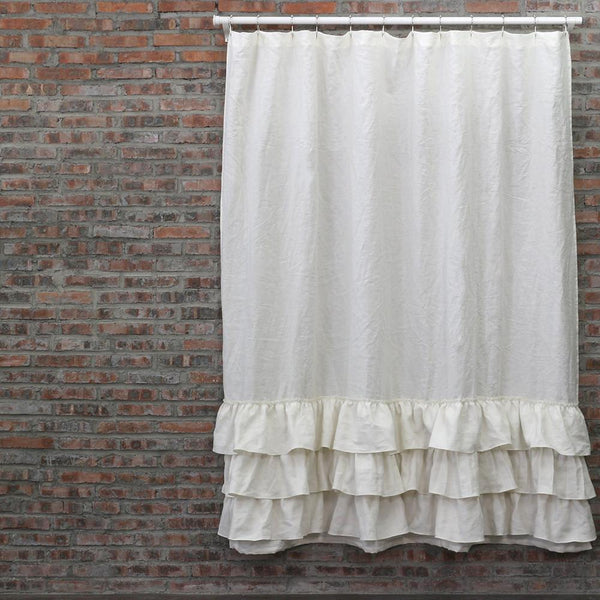 ... Ruffles Linen Shower Curtain   Linenshed.au   8 ...