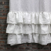 Ruffles Linen Shower Curtain - linenshed.au - 11