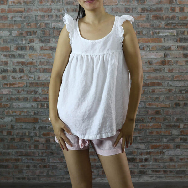 Babydoll Sleeveless Top - linenshed.au - 1