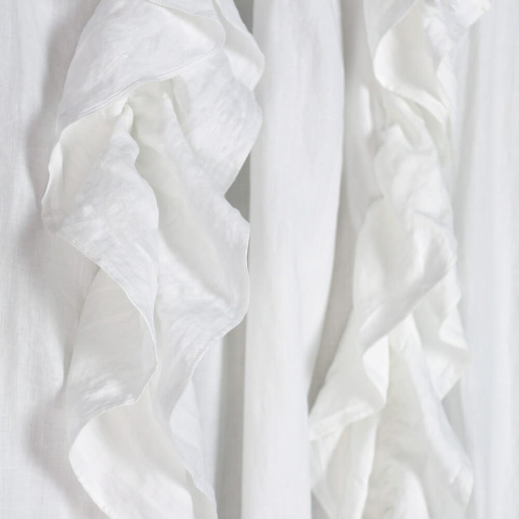 Drops Ruffles Linen Window Curtain - linenshed.au - 3
