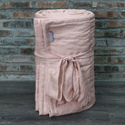 Linen Quilted Bedspread - Salmon