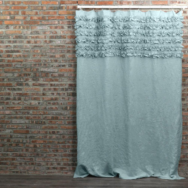 Shabby Chic Shower Curtain Icy Blue