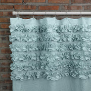 Shabby Chic Shower Curtain Closeup Icy Blue