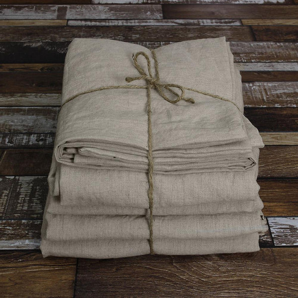 100 % Linen Sheets Set in Natural