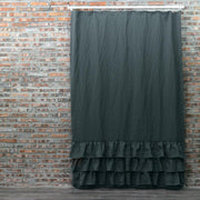 Ruffles Linen Shower Curtain - linenshed.au - 5