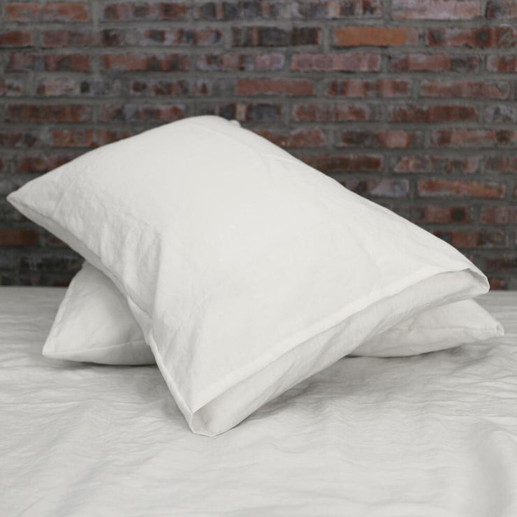 Housewife Linen Pillowcases Chalk (set of 2) - linenshed.au - 2