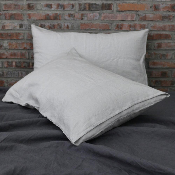 Housewife Linen Pillowcases Stone Grey (set of 2) - linenshed.au - 2