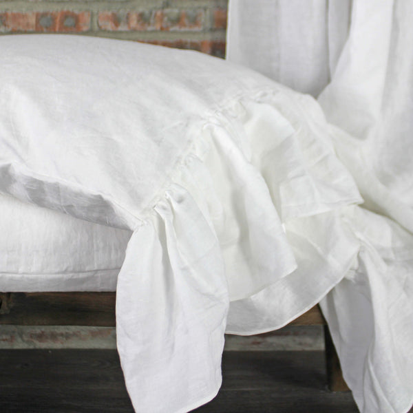 Side-Ruffles-Optical-White-Linen-Pillowcases-Closeup