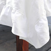 Linen Ruffles Tablecloth (circular custom size)