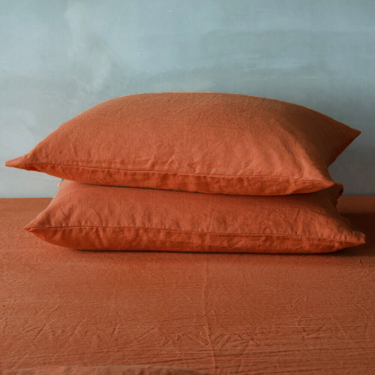 Housewife-Linen-Pillow-Covers-Set-of-2-Corail