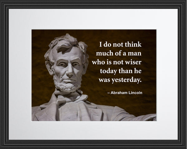Abraham Lincoln I Do Prepare Poster, Print, Picture or Framed Photograph